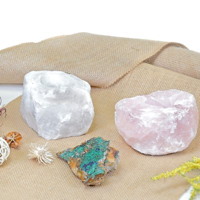 Gem Stone Candle Holders